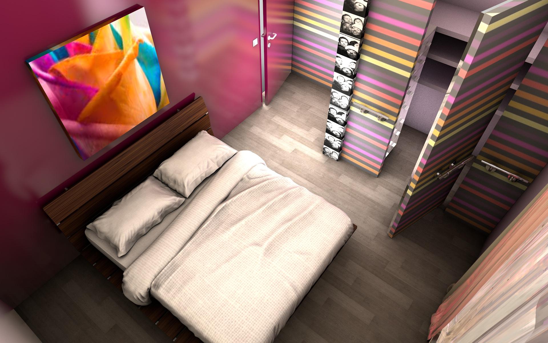 Chambre avec dressing
